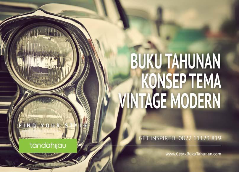 Buku Tahunan Tema Vintage Modern
